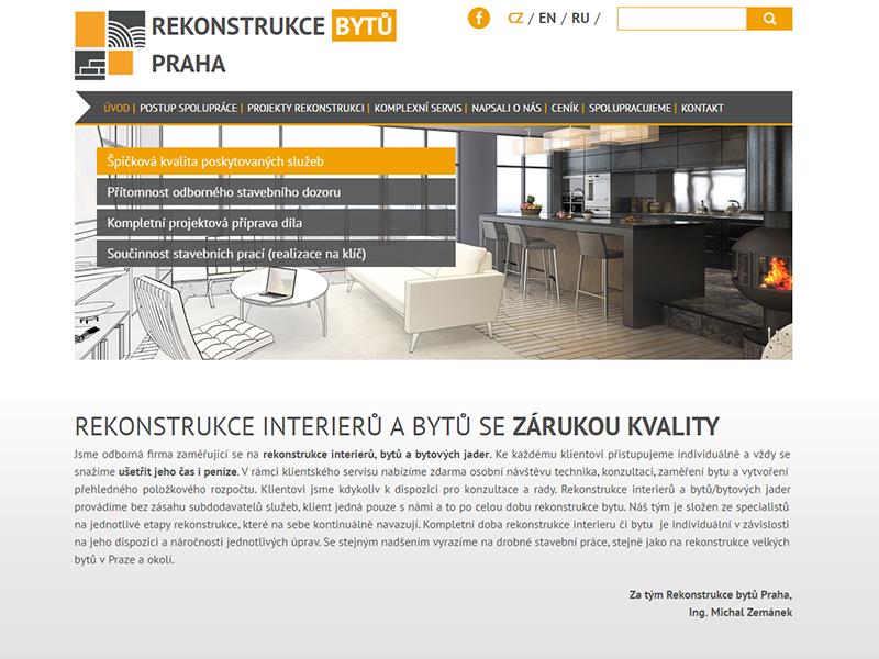 portfolio - screen - rekonstrukce bytu praha
